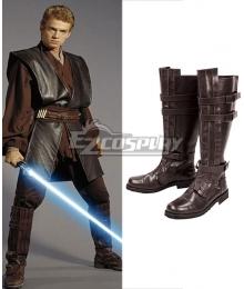 Star Wars Anakin Skywalker Jedi Brown Cosplay Boots