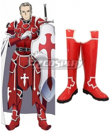Sword Art Online Heathcliff Red Shoes Cosplay Boots