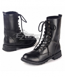 Axis Powers Hetalia Chibi Prussia Black Boots Cosplay Shoes
