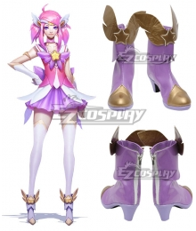 League of Legends LOL Star Guardian Lux  Purple Shoes Cosplay Boots