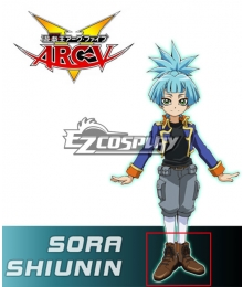 Yu-Gi-Oh! Yugioh ARC-V Sora Shiunin Brown Shoes Cosplay Boots