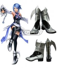 Kingdom Hearts Birth by Sleep Aqua Silver Shoes Cosplay Boots