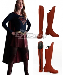 DC Comics The Flash Supergirl Supergirl Red Shoes Cosplay Boots