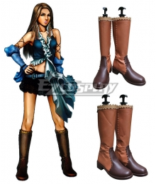 Final Fantasy X-2 Yuna FF10 Lenne Cosplay Shoes Cosplay Boots