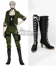 Gangsta Gyangusuta Gina Paulklee Black Shoes Cosplay Boots