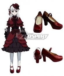 K Anna Kushina Red Cosplay Shoes