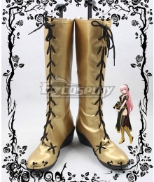 Vocaloid Megurine Luka Golden Shoes Cosplay Boots