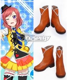 Love Live! Lovelive! School Idol Festival Sunny Day Song Maki Nishikino Orange Shoes Cosplay Boots