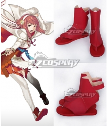 Fire Emblem Fates IF Sakura Red Cosplay Shoes