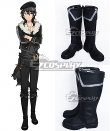 Ensemble Stars Rei Sakuma Black Shoes Cosplay Boots
