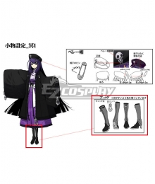 XBlaze Code Embryo Mei Amanohokosaka Black Shoes Cosplay Boots - A Edition