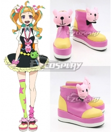 Kiznaiver Nico Niyama Pink Cosplay Shoes