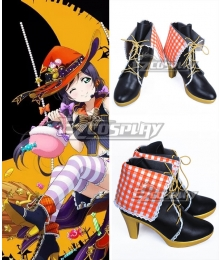 Love Live! Lovelive! Halloween Nozomi Tojo Black Cosplay Shoes