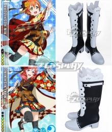 Love Live! Lovelive! Taisho Roman Rin Hoshizora Maki Nishikino Black Shoes Cosplay Boots
