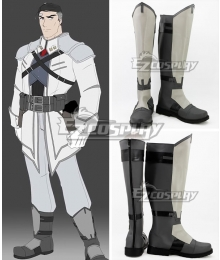 RWBY James Ironwood Grey Shoes Cosplay Boots