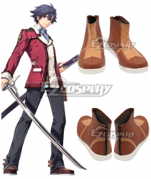 The Legend of Heroes: Sen No kiseki Rean Schwarzer Brown Cosplay Shoes
