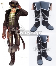Tales of Zestiria the X Dezel Brown Shoes Cosplay Boots