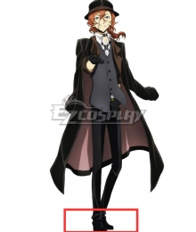 Bungou Stray Dogs Chuya Nakahara Black Cosplay Shoes
