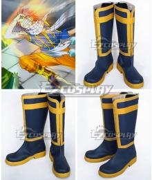 Fairy Tail Dragon Slayers Natsu Dragneel Natsu DoraguniruTeam Natsu New Blue Shoes Cosplay Boots