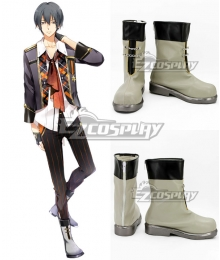 Tsukiuta. Arata Uduki Six Gravity April Light green Shoes Cosplay Boots