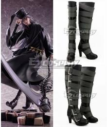 Black Butler Undertaker Black Shoes Cosplay Boots