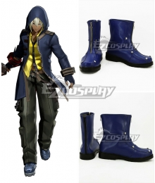 God Eater Soma Schicksal Jinki Blue Cosplay Shoes