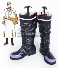 Valvrave the Liberator Cain Black Shoes Cosplay Boots