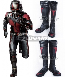 Marvel Ant Man Ant-Man Scott Lang Black Shoes Cosplay Boots
