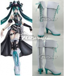 Vocaloid Hatsune Miku Calne Ca Karune Shii-e White Shoes Cosplay Boots
