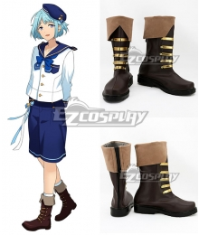 Ensemble Stars Shino Hajime Brown Shoes Cosplay Boots