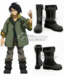Mobile Suit Gundam Iron-Blooded Orphans Mikazuki Augus Mika Mikadzuki Ogasu Black Shoes Cosplay Boots
