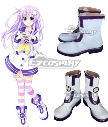 Hyperdimension Neptunia Nepgear White Shoes Cosplay Boots