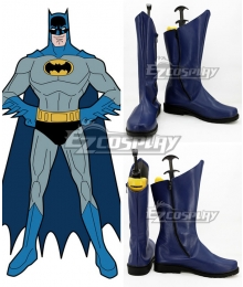 DC Comics Batman Bruce Wayne Blue Shoes Cosplay Boots