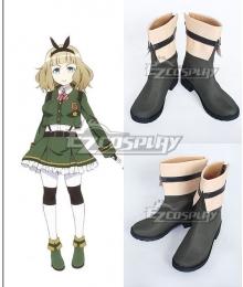 AntiMagic Academy The 35th Test Platoon  Usagi Saionji Green Shoes Cosplay Boots