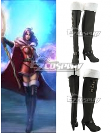 League of Legends LOL the Deceiver LeBlanc Black Shoes Cosplay Boots