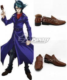 Yu-Gi-Oh! Yugioh ARC-V Kurosaki Shun Shay Obsidian Brown Cosplay Shoes