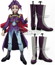 Yu-Gi-Oh! Yugioh ARC-V Joeri Yuri Grey And Purple Shoes Cosplay Boots