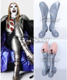 Detroit Metal City Soichi Negishi Johannes Krauser II Silver Shoes Cosplay Boots