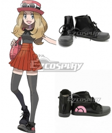Pokémon XY Pokemon Pocket Monster Serena Black Cosplay Shoes