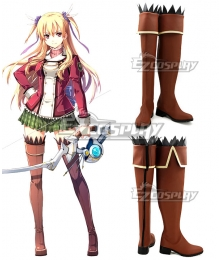 The Legend of Heroes Trails of Cold Steel Alisa Reinford Brown Shoes Cosplay Boots