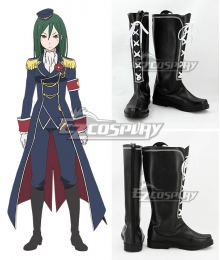 Re: Life In A Different World From Zero Crusch Karsten Black Shoes Cosplay Boots