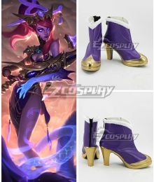 League of Legends LOL Lunar Wraith Caitlyn the Sheriff of Piltover Purple Cosplay Shoes
