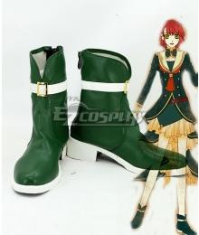 Harukanaru Toki no Naka de 6 Azusa Takatsuka Green Shoes Cosplay Boots
