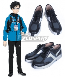 Yuri on Ice YURI!!!on ICE Katsuki Yuuri Black Cosplay Shoes