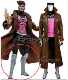 Marvel Uncanny X-Men X Men Gambit Remy Etienne LeBeau Shoes Cosplay Boots