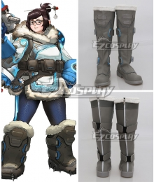 Overwatch OW Dr. Mei Ling Zhou Shoes Cosplay Boots