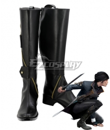 Dishonored 2 Emily Kaldwin Black Shoes Cosplay Boots