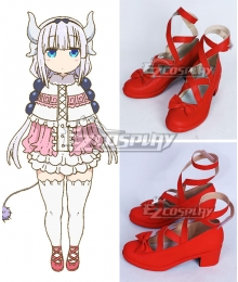 Miss Kobayashi's Dragon Maid Kanna Kamui Red Cosplay Shoes