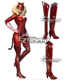 Persona 5 Ann Takamaki Red Shoes Cosplay Boots - B Edition