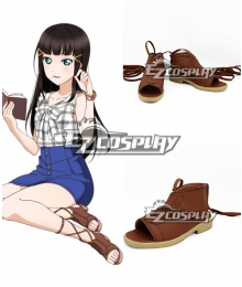 Love Live! Sunshine!! Kurosawa Dia Brown Cosplay Shoes